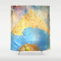 Sky Poppy Shower Curtain