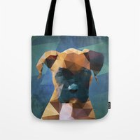 The Boxer - Dog Portrait Tote Bag