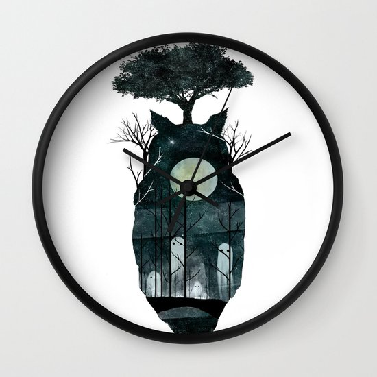March of the Forest Spirits Wall Clock