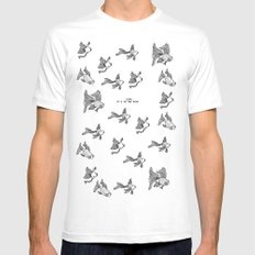 Love: It's In the Eyes SMALL White Mens Fitted Tee
