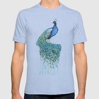 Peacock Mens Fitted Tee Athletic Blue SMALL