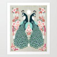 Peacocks By Andrea Laure… Art Print