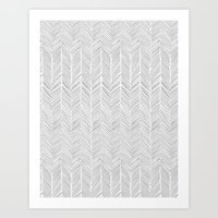 Freeform Arrows In Gray Art Print