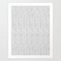 Freeform Arrows in gray Art Print