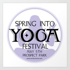Spring Into Yoga! Art Print