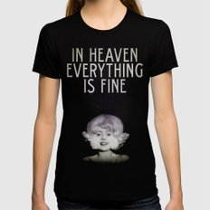 In Heaven Everything is Fine - Eraserhead Womens Fitted Tee Black SMALL