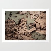 Deadly Sins Valley Art Print