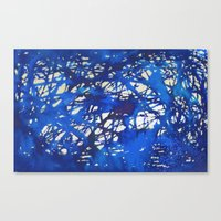 Tangled in Blue Canvas Print