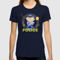 Police Womens Fitted Tee Navy SMALL