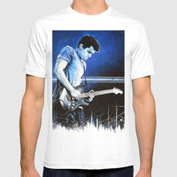 John Mayer Blues Mens Fitted Tee White SMALL