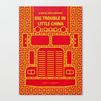 No515 My Big Trouble Little China minimal movie poster Canvas Print