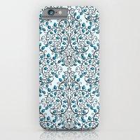 Damask Nature Blue iPhone 6 Slim Case