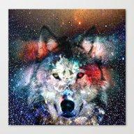 Wolf Universe Canvas Print