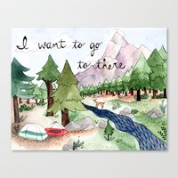 I Want To Go To There Canvas Print