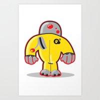 Sp8  Robot Character Art Print