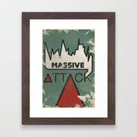 Massive Attack Framed Art Print