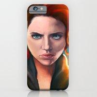 iPhone & iPod Case featuring Black Widow by Peach Momoko