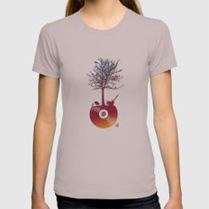 Vinyl Tree 2 Womens Fitted Tee Cinder SMALL