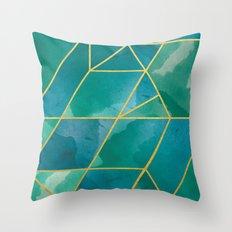 Shattered Emerald 2 Throw Pillow