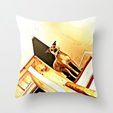Vertigo Dog Throw Pillow