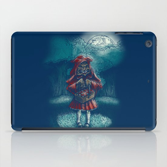 Big Bad Little Red Riding Wolf Hood iPad Case