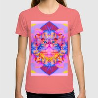Funky Reincarnation-Lady Jasmine Womens Fitted Tee Pomegranate SMALL