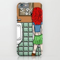 Girl in Skirt at Urinal by RonkyTonk iPhone 6s Slim Case