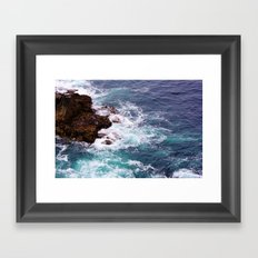 Swirls Of Blue Framed Art Print