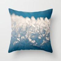 Mountain Snow Macro Throw Pillow