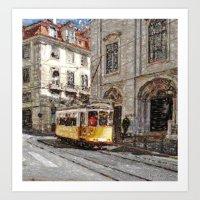 Old tramways III Art Print