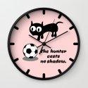 Cat Football Wall Clock