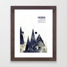 Wandering star Framed Art Print