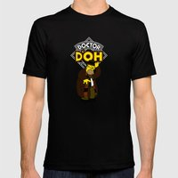 Doctor D'oh Mens Fitted Tee Black SMALL