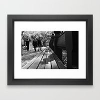 Bench or Bride? Framed Art Print
