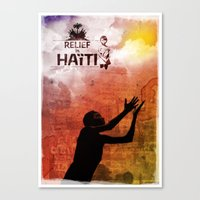 Relief in Haiti Canvas Print