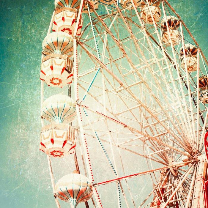 Vintage Ferris Wheel Art Print by AC Photography | Society6