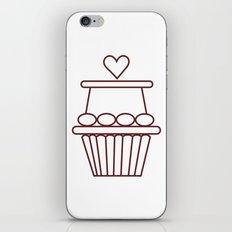 Cupcake Heart iPhone & iPod Skin