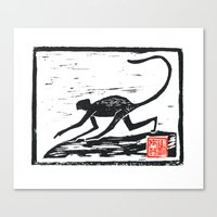 2016 year of the Monkey Block Print Canvas Print