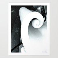 WHITEOUT : Winding Way Art Print