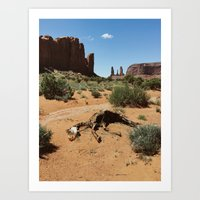 Monument Valley Horse Carcass Art Print