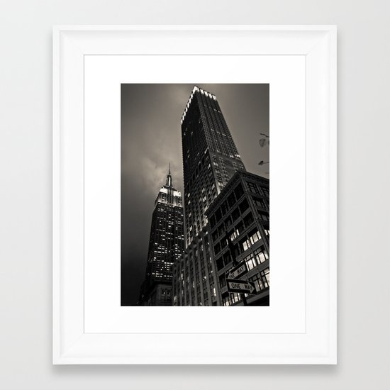 Empire State Building Framed Art Print
