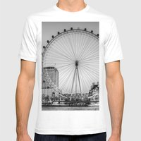 London Eye, London Mens Fitted Tee White SMALL