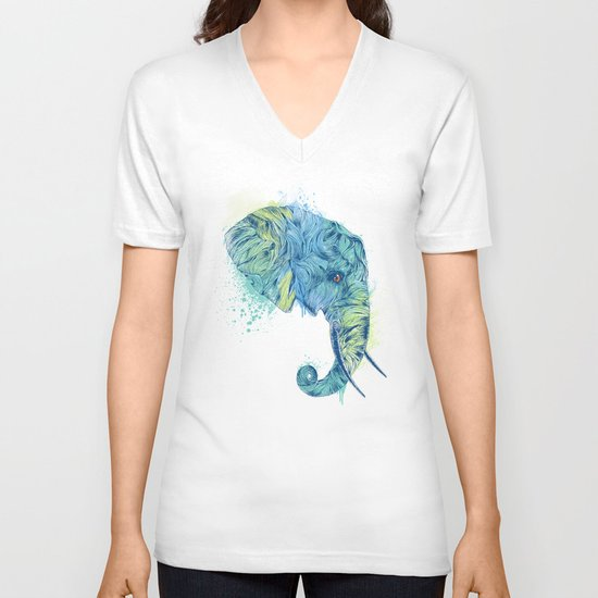 Elephant Head II V-neck T-shirt