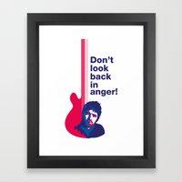 Noel Gallagher - Don't Look Back In Anger 02 Framed Art Print