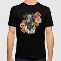 Moo Mens Fitted Tee Black SMALL