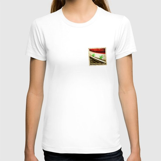 STICKER OF SYRIA flag T-shirt