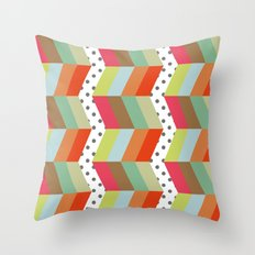 retro pattern and planet 1 Throw Pillow