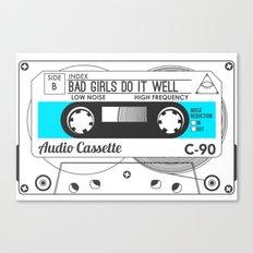 Audio Cassette SIDE B ▲BADGIRLSDOITWELL▲ BLUE Canvas Print