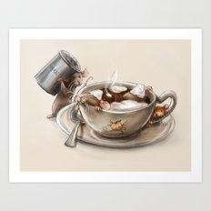 Pumpkin Spice Latte Art Print