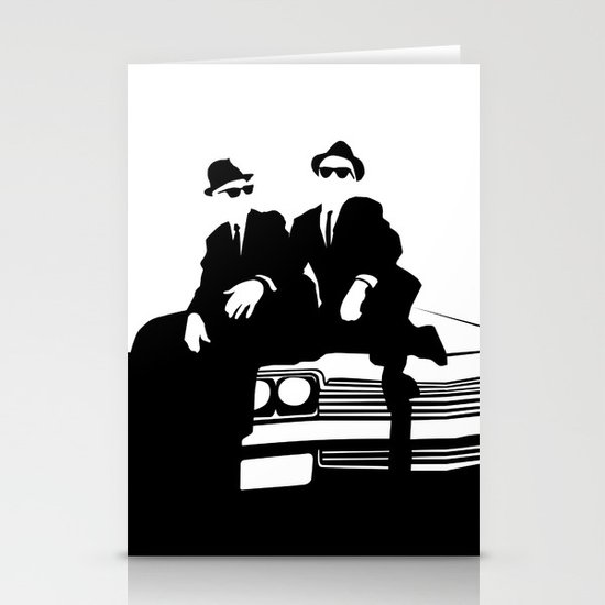 Blues Brothers Stationery Card